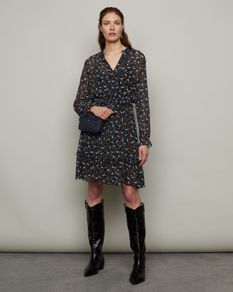 Jigsaw Scattered Ditsy Crinkle Dress