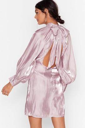 Nasty Gal Womens Glass Half Full Tie Back Mini Dress - Lilac