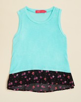 Menu Girls' Floral Print Hem Tank - Big Kid