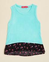 Menu Girls' Floral Print Hem Tank - Sizes XS-XL