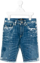 Diesel distressed shorts - kids - Cotton/Spandex/Elastane - 8 yrs