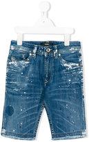 Diesel distressed shorts - kids - Cotton/Spandex/Elastane - 9 yrs