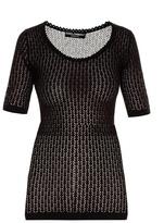 Dolce & Gabbana Scoop-neck chevron-knit sweater