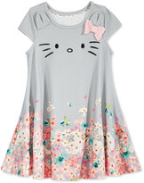 Hello Kitty Floral Fit and Flare Dress, Toddler and Little Girls (2T-6X)