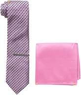 U.S. Polo Assn. Men's Print Tie, Pocket Square And Tie Bar Set