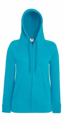 Fruit of the Loom Women's Fit Full Zip Hoodie Sweatshirt Azure S