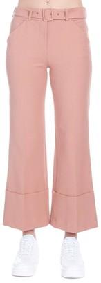 Sara Battaglia Cropped Flare Trousers
