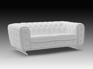 Orren Ellis Bloomsburg Leather Loveseat Upholstery Color: Clove