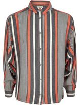 River Island Girls coral stripe oversized shirt