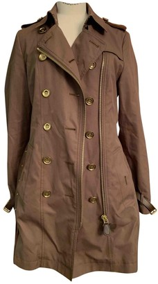 Burberry Brown Cotton Trench Coat for Women