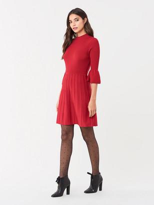 Diane von Furstenberg Sella Ribbed Merino Mini Dress