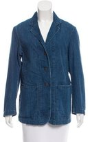 6397 Denim Notch-Lapel Blazer w/ Tags