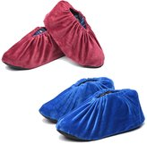 Safety Shop Non Slip Washable Reusable Shoe Boot Covers 2 Pairs For IN Doors One