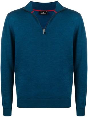 Paul Smith Short Zip Knitted Jumper