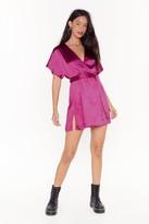 Nasty Gal Womens Call in Slick Satin Mini Dress - Pink - 8, Pink