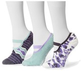 Muk Luks Women's Aloe Maryjane's 3 Pair Sock Pack - Purple One Size