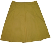 Celine Yellow Cotton Skirt