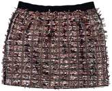 J.Crew Collection Silver & Bronze Textured Mini Skirt