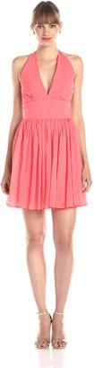 BB Dakota Women's Amrei Crinkle Chiffon Halter Dress
