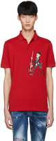 Dolce & Gabbana Red Cello Player Polo