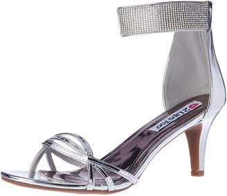 Two Lips Women's Too Elegant Dress Pump Silver 7.5 M US