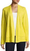 Eileen Fisher Fine-Gauge Organic Linen Cardigan, Plus Size