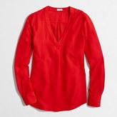 J.Crew Factory Petite drapey V-neck blouse