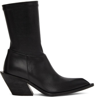 Haider Ackermann Black Chunky Low Boots