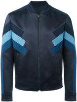 Neil Barrett panelled bomber jacket - men - Polyamide/Acetate/Cotton/Viscose - M