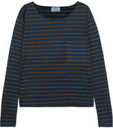 Prada Striped Slub Cotton-jersey Top