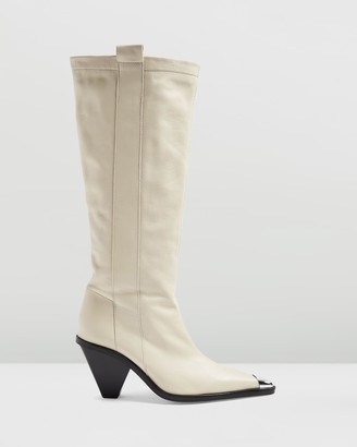 Topshop Tulip Point Knee High Boots
