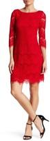 Eliza J Eyelash Lace Shift Dress (Petite)