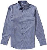 Hart Schaffner Marx Dobby Long-Sleeve Woven Shirt