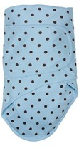 Miracle Blanket Polka Dot Baby Swaddle - Baby Blue