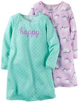 Carter's Girls 4-14 Graphic & Patterned Nightgown Pajama Set