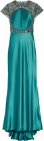 Catherine Deane Elle embellished tulle and satin gown