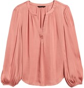 Banana Republic Petite Soft Satin Blouse