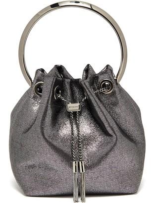 Jimmy Choo Bon Bon' metal handle metallic leather bag