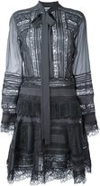 Ermanno Scervino semi sheer shirt dress