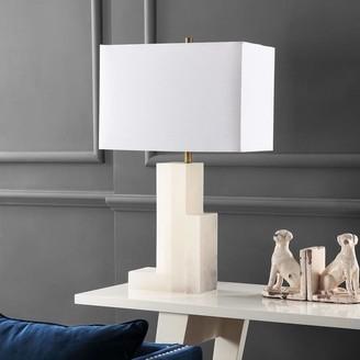 "Safavieh Lighting Collection Cora Alabaster 27.75"" Table Lamp"