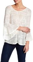 Jessica Simpson Bell Sleeve Split Back Sweater