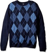 Dockers Big and Tall Long Sleeve Soft Acrylic Multi Color Argyle W/ Raker-Crew