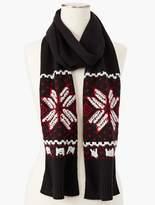 Talbots Snowflake Knit Scarf