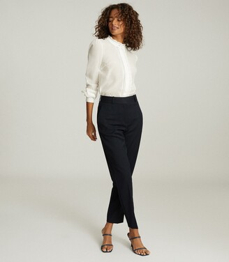 Reiss Liddy - Ruffle Detailed Shirt in White