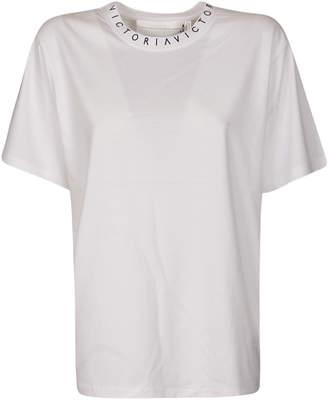 Victoria Beckham Logo Print On Neckline T-shirt