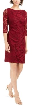 Jessica Howard Petite Stretch-Lace Sheath Dress