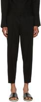 Issey Miyake Black Pleated Lounge Pants