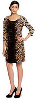 Isaac Mizrahi Live! Animal Print Knit Velvet Dress