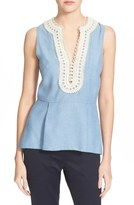 Veronica Beard 'Casita' Peplum Top