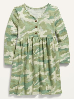 Old Navy Cozy Plush-Knit Printed Henley Dress for Toddler Girls